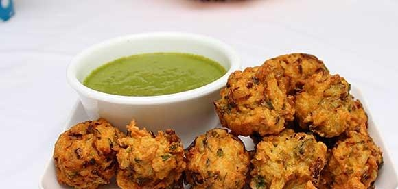 make easy rice pakora